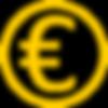 Euro Symbol Icon Yellow