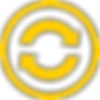 Rotating Arrows Icon Yellow