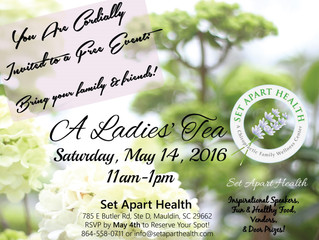 A Ladies' Tea Event! May 14th 2016