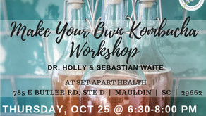 Join us for our October Kombucha Class!