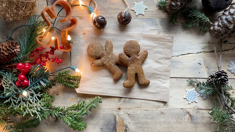 Gluten Free Gingerbread Cookies- No Refined Sugars