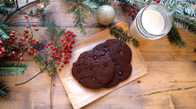 Giant Chewy Chocolate Chocolate Chip Cookies- Organic, Gluten free, and No Refined Sugars