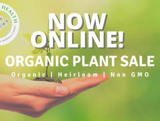 Organic Plant Sale NOW ONLINE