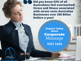 Corporate Massage at Kimberley Physiotherapy