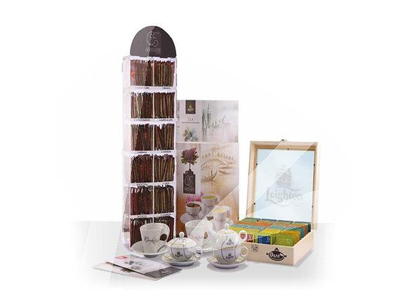 Kit promozione 160 filtri di tè e 120 bustine di cioccolata gusti assortiti