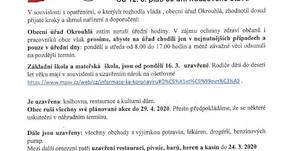 OPATŘENÍ PROTI ŠÍŘENÍ ONEMOCNĚNÍ COVID-19