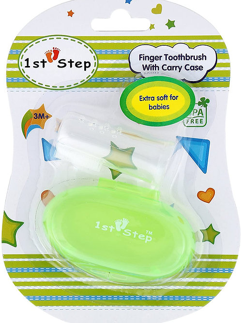 Finger toothbrush with carry case
