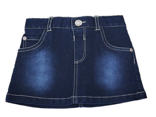 Denim skirt with shorts attached