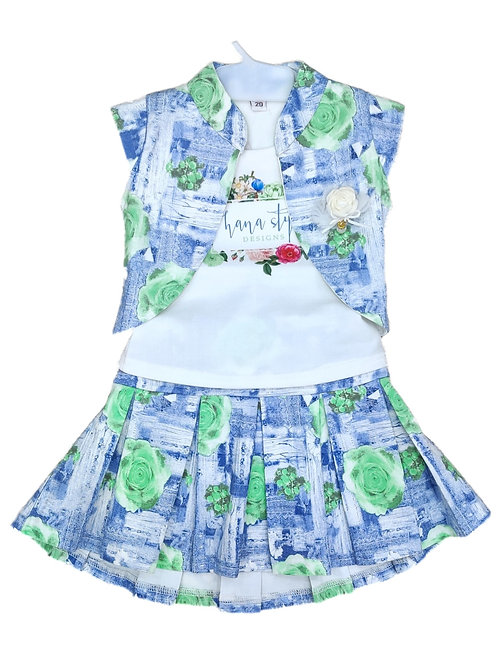 Girls 3pcs skirt set