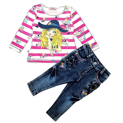 Girls jeans set