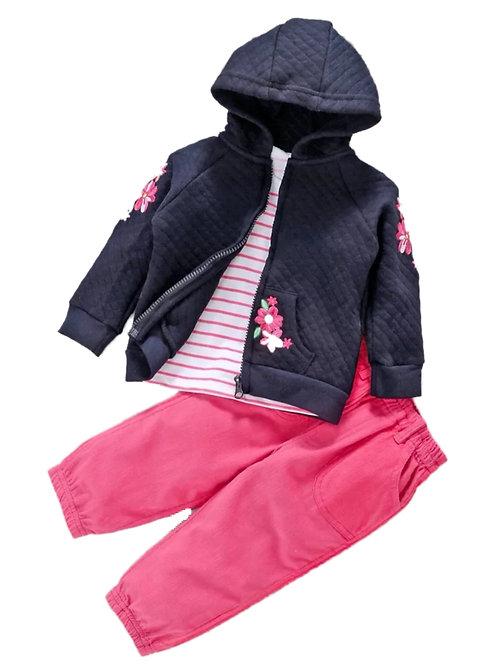 Girls jacket 3pcs suit
