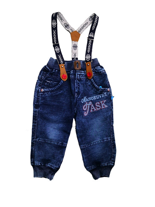 Boys jeans with suspenders
