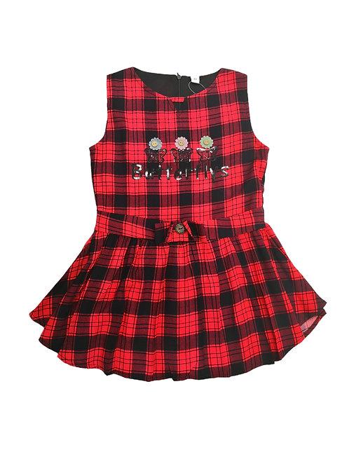 Girls checks dress