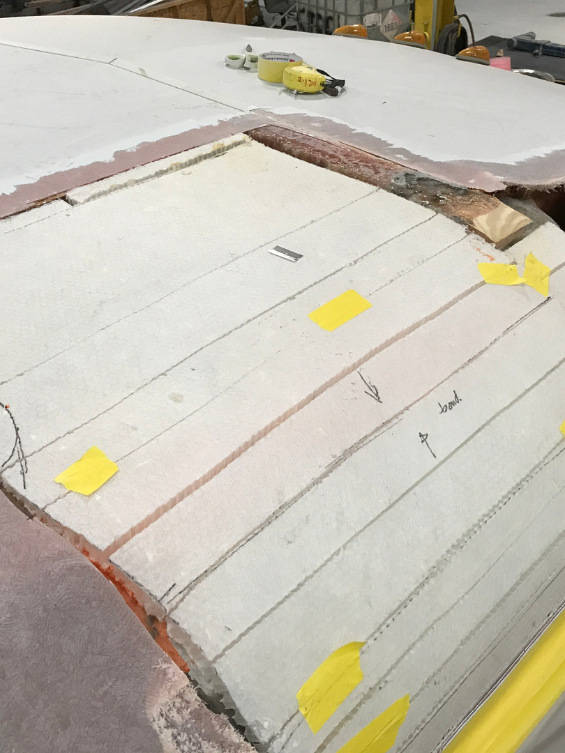 Roof repair project