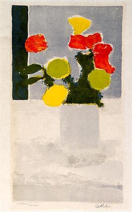 Bernard Cathelin - Vase Of Flowers