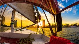 Felucca at sunset_Maadi Nile_Cairo