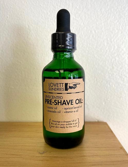 Unscented Pre-Shave Oil