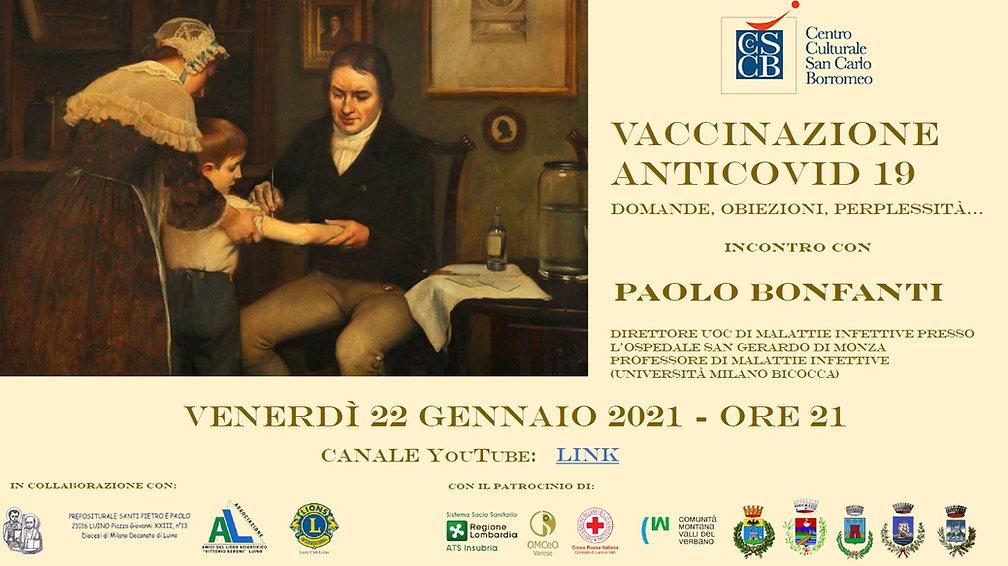 Locandina incontro Vaccinazione anticovi