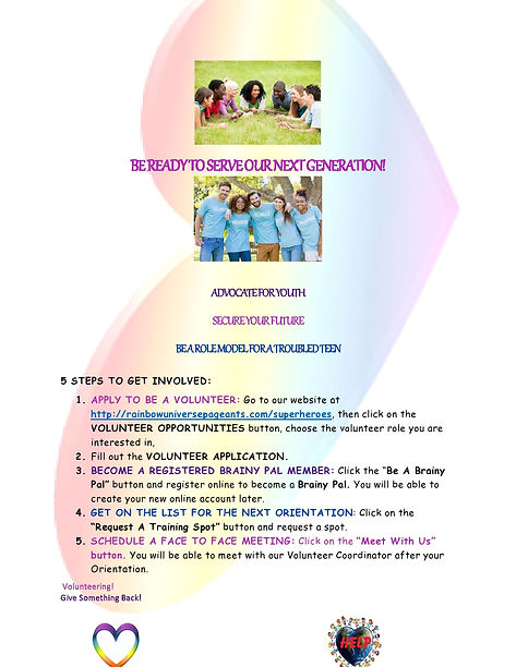 Volunteer flyer for website and to pass