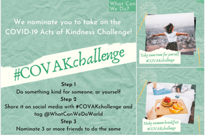 what can we do?'s #covakchallenge social media assets another way to get involved with mental health awareness week