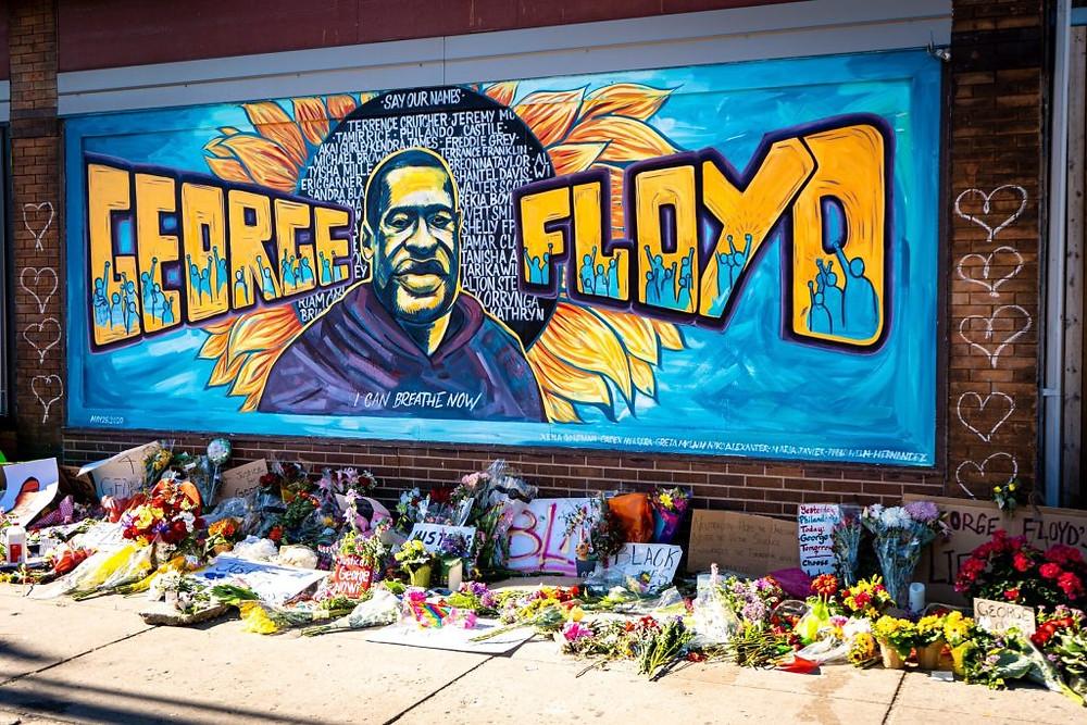 George Floyd memorial wall