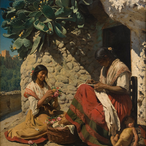 "Peder Severin Kroyer ""Dos mujeres gitanas"""