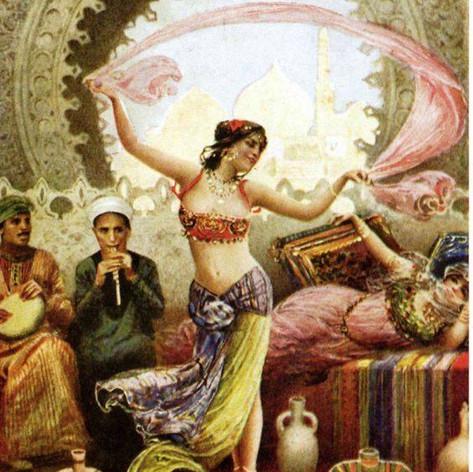 Fabio Fabbi bailarina en el harén
