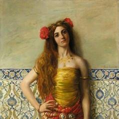 Odalisca con pandero de Leon Francoise Comerre.