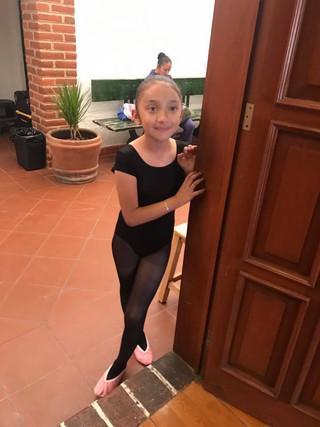 Una pequeña alumna de Ballet
