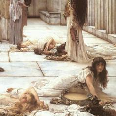 Las mujeres de Anfisa (detalle). Lienzo de Alma Tadema (1836-1912)