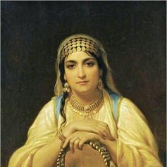 Mujer con pandero de Hippolyte Lecomte