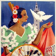 Poster de la feria de Sevilla 1952