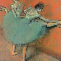 Bailarinas en la barra de Edgar Degas