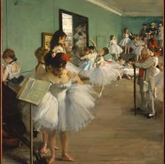 La clase de danza  de Edgar Degas