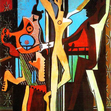 "Pablo Picasso. ""La Danza"" pintura de1925"