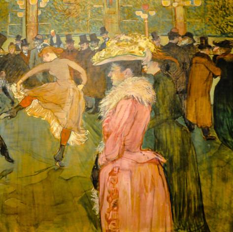 Baile en el Molino Rojo de Toulouse Lautrec