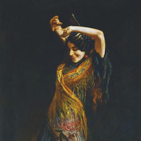 """Leopold Schmutzler """"Bailarina de flamenco"""""""