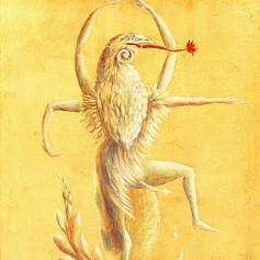 Figuras míticas, Bailarín II (1954). Leonora Carrington (1917–2011).