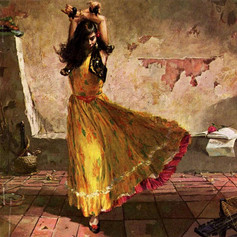 Bailarina gitana por Stanley Meltzoff