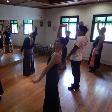 Clase de flamenco