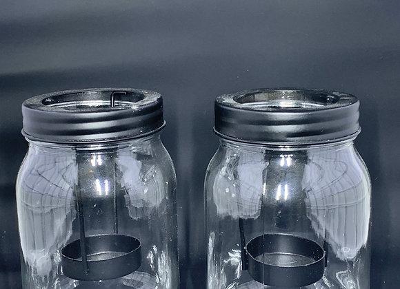 Tea Lite Jar Candle Holder - Set