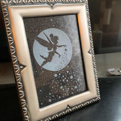 Tinkerbell Silver Framed