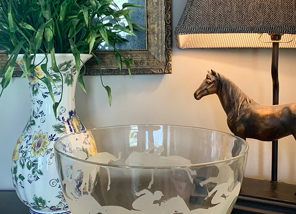 Derby Day Race Horse Serving Bowl