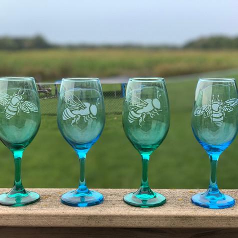 Bee Wine Glasses