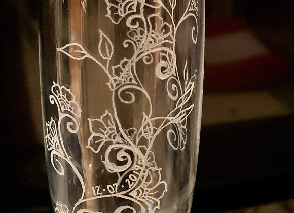 Custom Champagne Flutes/Pair