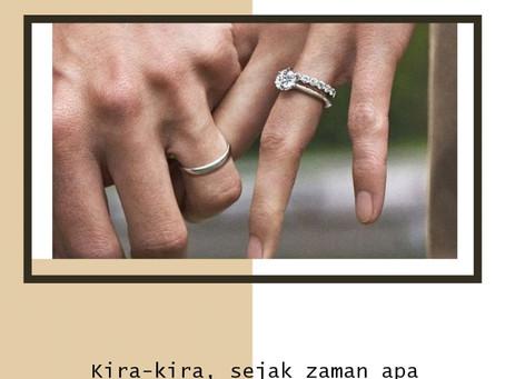 Kira-kira sejak kapan ya cicin kawin di jadikan simbol pernikahan? Simak yuk couple!