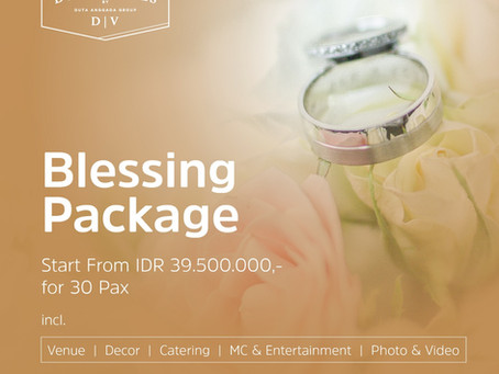 Blessing Package Only On Duta Venues