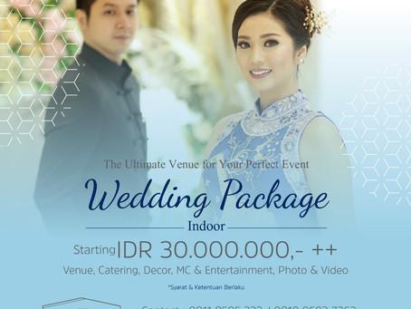 WEDDING INDOOR START FROM 30Mio++ !!