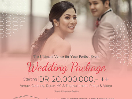 WEDDING PACKAGE START FROM 20 MIO !!