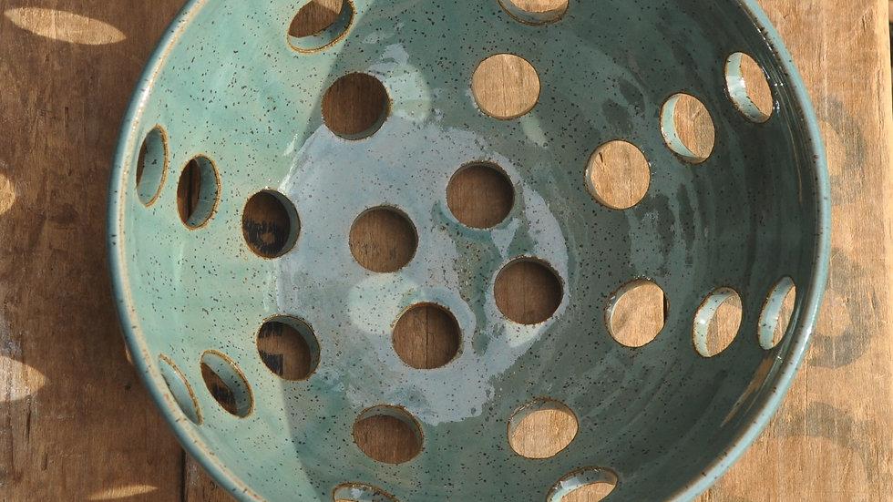 Large Hole Colander in Robin's Egg